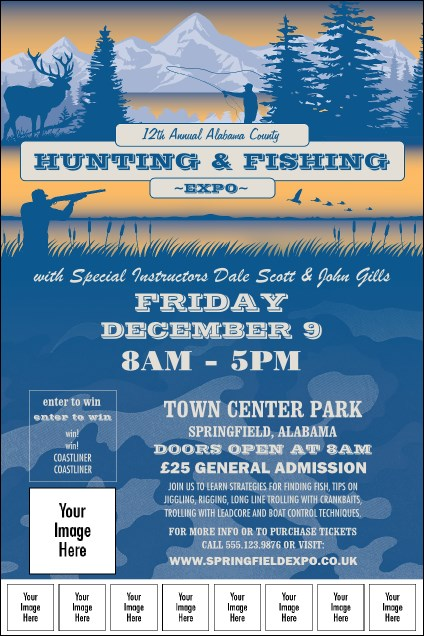 Fishing and Hunting Expo Image Poster
