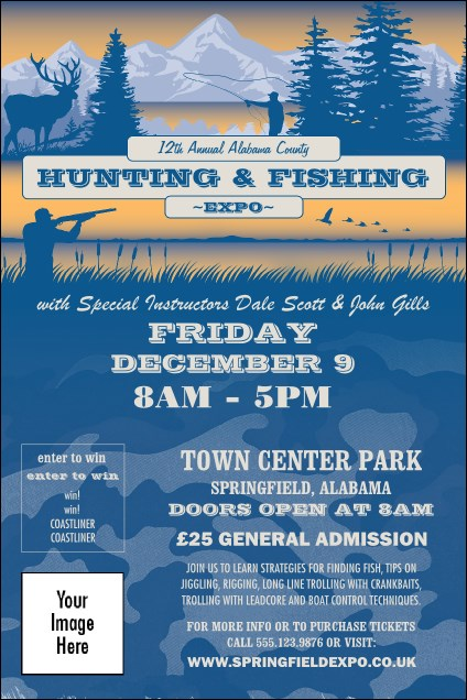 Fishing and Hunting Expo Poster