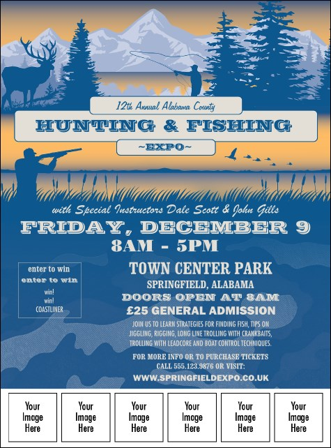 Fishing and Hunting Expo Image Flyer Product Front