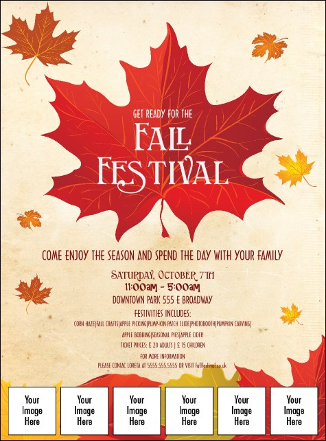 Fall Leaves Image Flyer