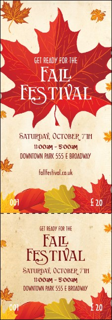 Fall Leaves Event Ticket