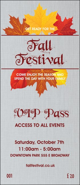 Fall Simple VIP Pass