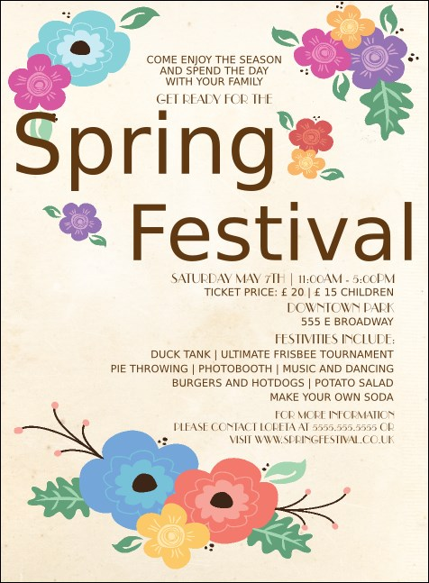 Spring Festival Invitation Product Front