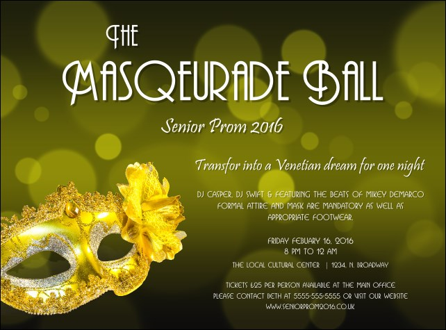 Masquerade Ball 2 Flyer