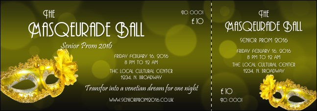 Masquerade Ball 2 Event Ticket