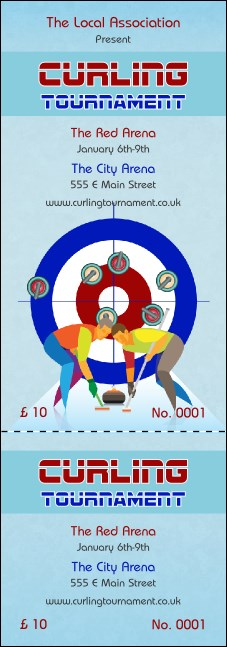 Curling Tournament Event Ticket
