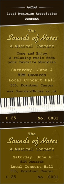 Sounds of Notes Event Ticket