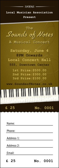 Sounds of Notes Raffle Ticket