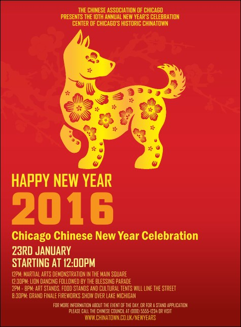 Chinese New Year Dog Flyer