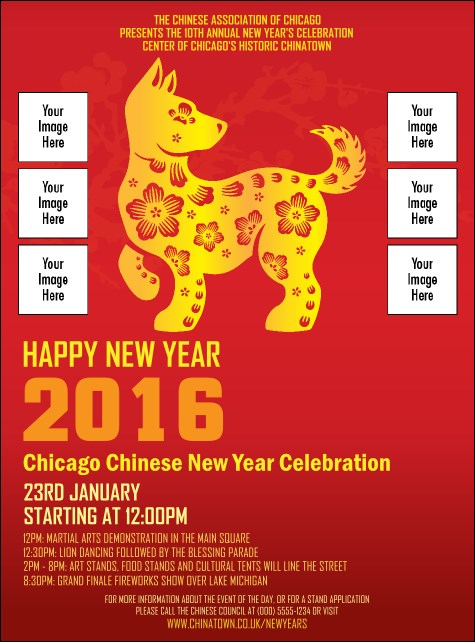 Chinese New Year Dog Image Flyer