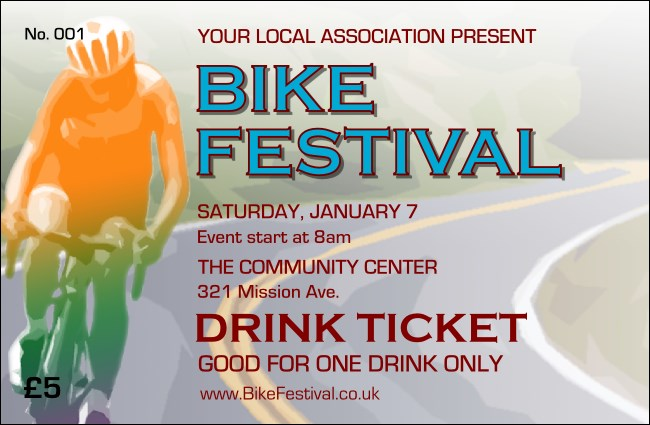 Bike Festival Drink Ticket
