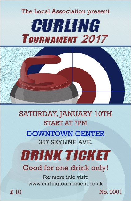 Curling Tournament 2017 Drink Ticket