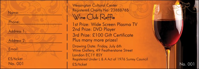 Wine Raffle Ticket 0007
