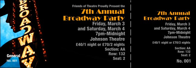 Broadway Reserved Event Ticket