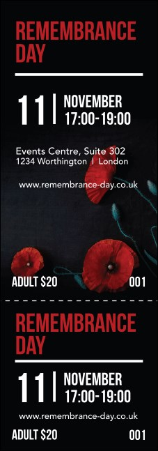 Remembrance Day Event Ticket