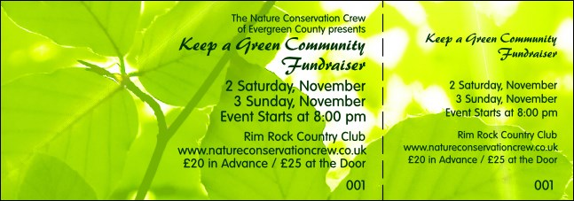 Nature Series - Green Leaves General Admission Ticket