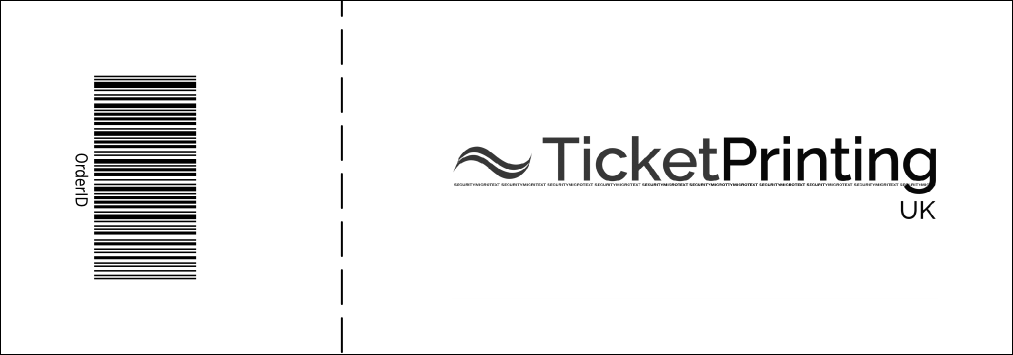 Red Image General Admission Ticket Product Back