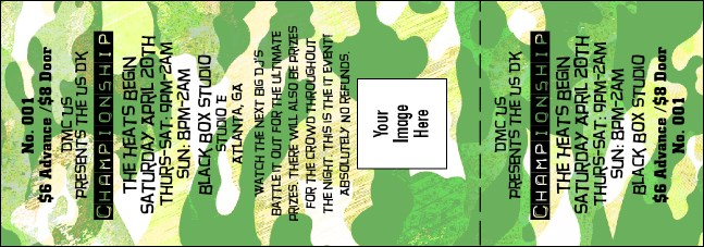 Camouflage Ticket