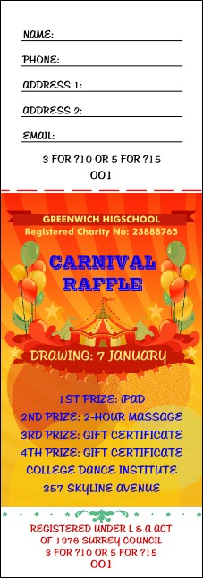 Carnival Raffle Ticket