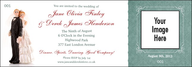 Vintage Bride and Groom Event Ticket