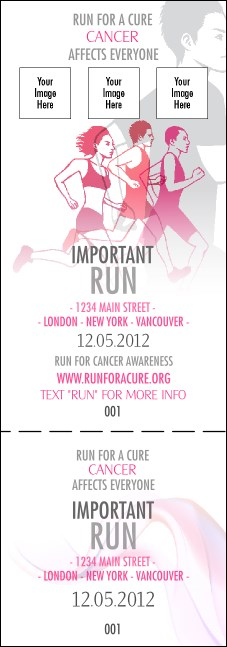 Run for a Cure Pink Event Ticket